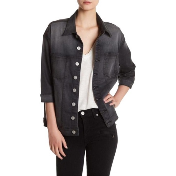 Hudson Jeans Jackets & Blazers - Hudson 'Emmet' Boyfriend Denim Jacket In Charcoal